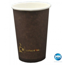 Kubek papierowy 250ml z nadrukiem COFFEE 4 YOU