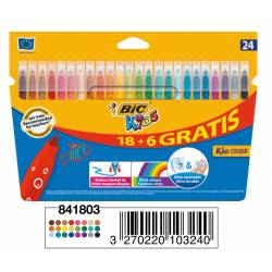 Flamastry Bic Kids Couleur 24 kolory