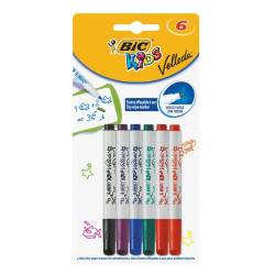 Marker do tablic Bic Kids MINI VELLEDA (6 szt) mix