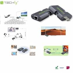 Extender HDMI Techly IDATA EXT-E70MI po skrętce Cat.5e/6/6a/7, do 50m,