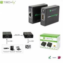 Extender HDMI Techly EXT-E70 po skrętce Cat. 6/6a/7, do 60m, Full HD 3