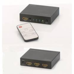 Switch HDMI Digitus DS-48304 3-portowy, 4096x2160p 4K UHD 3D, HDCP1.3,