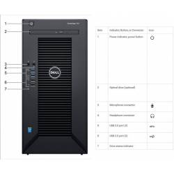 Serwer Dell PowerEdge T30 E3-1225v5/8GB/1TB/DVD-RW/1Y NBD