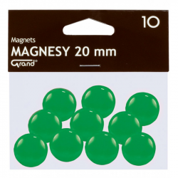 Magnes 20mm GRAND, zielony, 12 szt