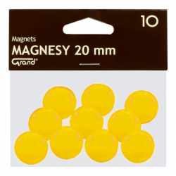 Magnes 20mm GRAND, żółty, 12 szt