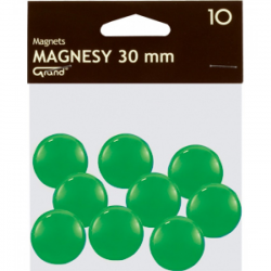 Magnes 30mm GRAND, zielony, 12 szt