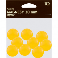 Magnes 30mm GRAND, żółty, 12 szt