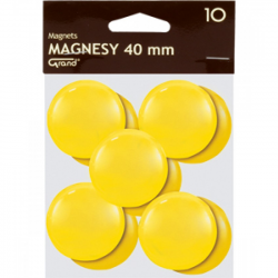 Magnes 40mm GRAND, zielony, 12 szt