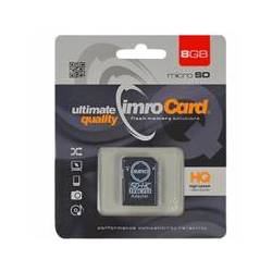 IMRO karta Micro SDHC class 4 + adapter SD, 8GB