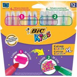 Flamastry Bic Colour & Create XL