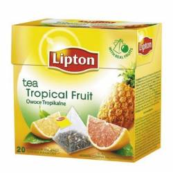 Herbata Lipton piramidki - Tropical fruit (20 saszetek)