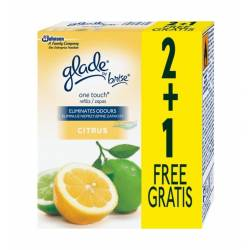 Odświeżacz glade by BRISE, one touch mini spray citrus, zapas 3x10 ml